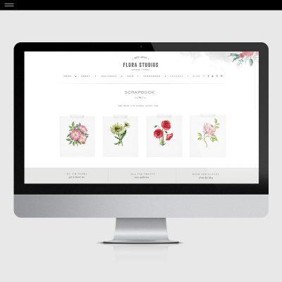 Flora-Product-Showit-Scrapbook