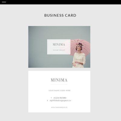 Minima-Product-Bus-Card