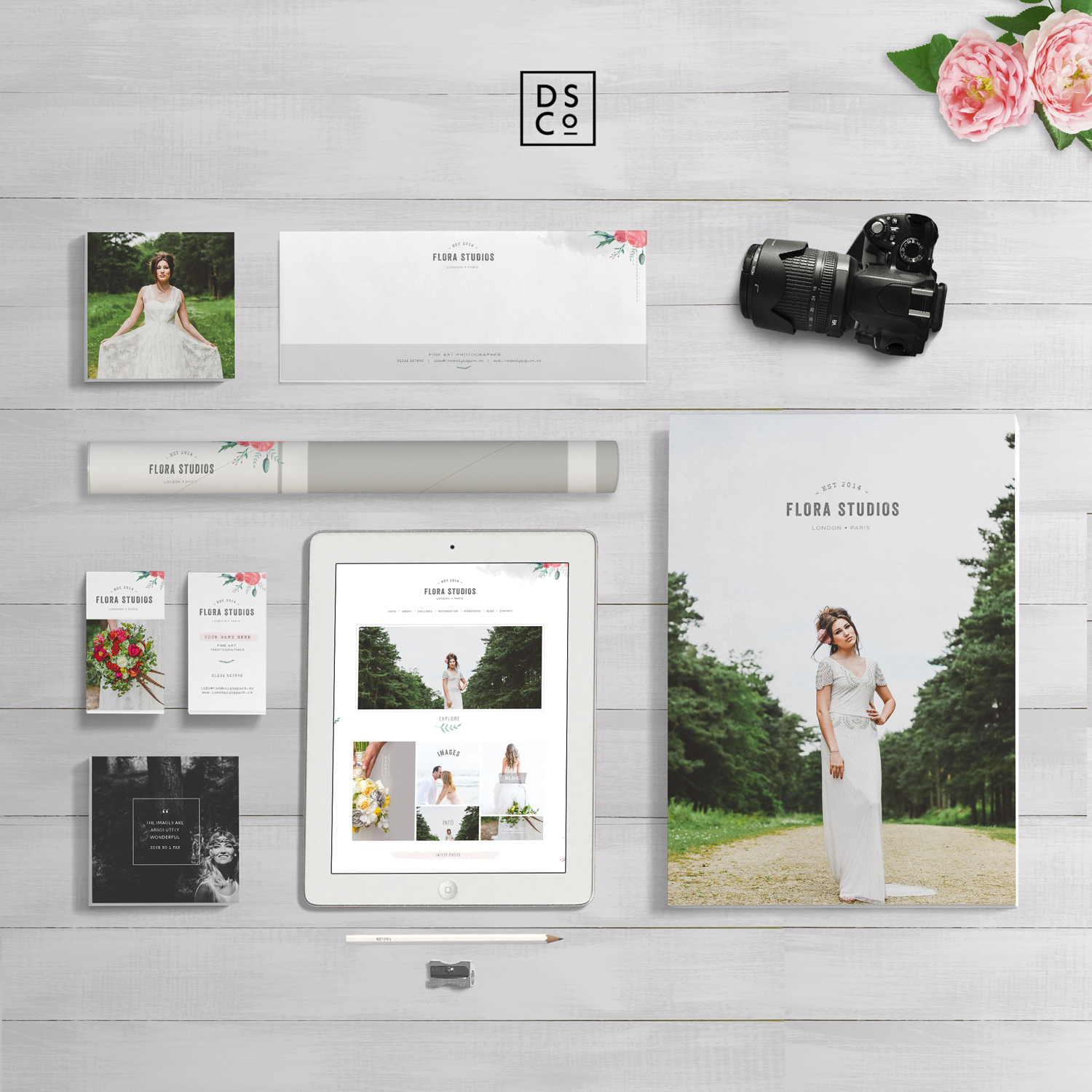 Flora-Stationery-Branding-Mock-Up | THE DESIGN SPACE.co