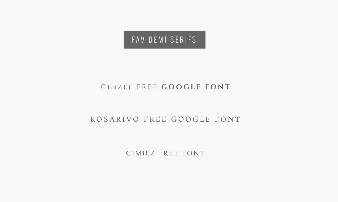 Demi serifs the design for Design space co