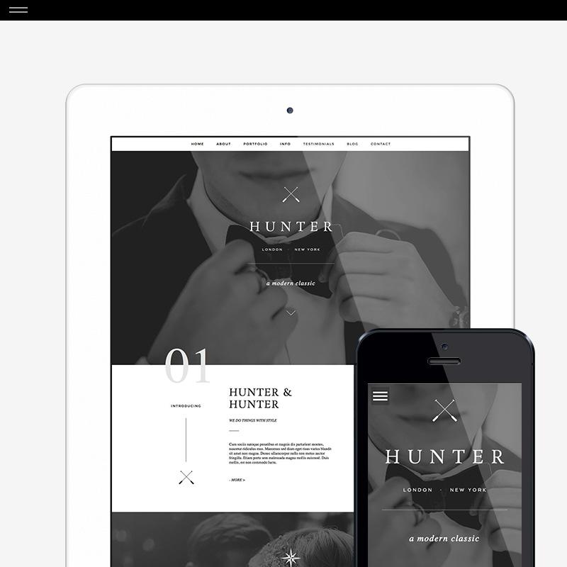 Hunter Wordpress Design for ProPhoto6