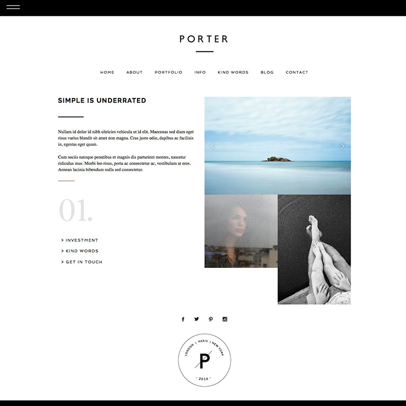 Porter prophoto product about the design for Design space co