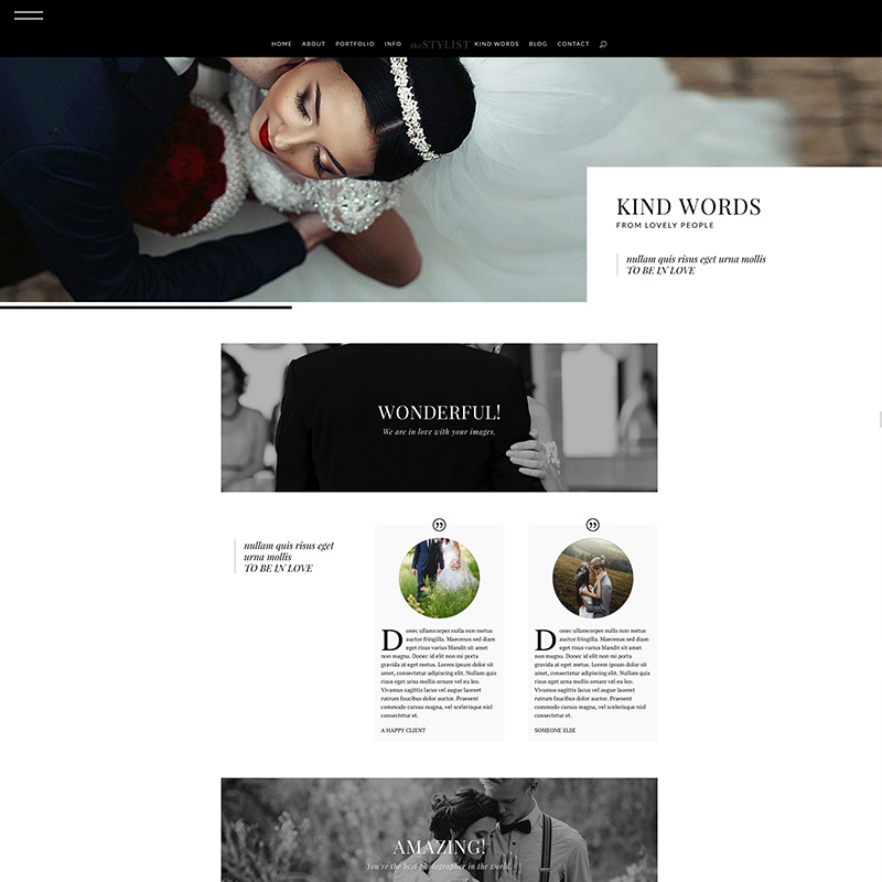 Stylist divi product testimonials the design for Design space co