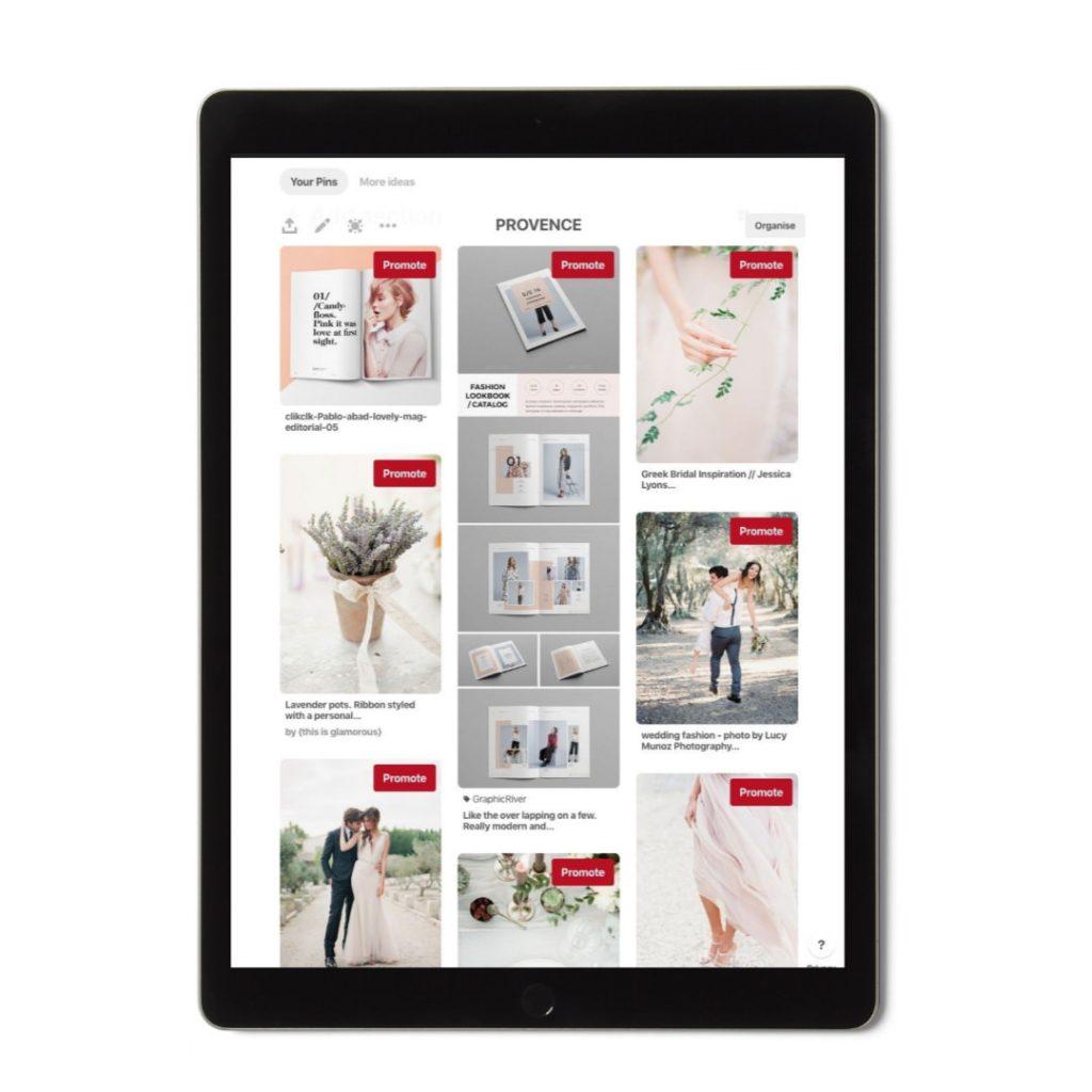 pinterest board for web design